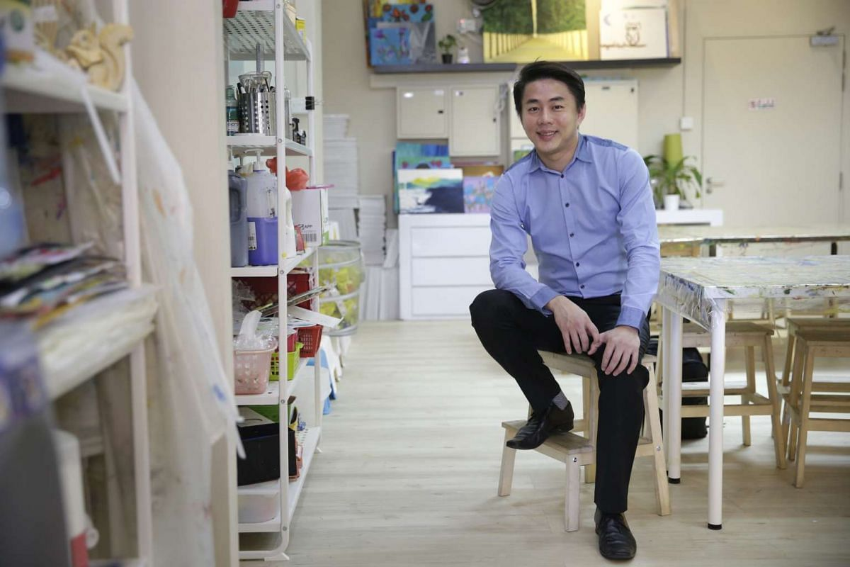 """""""I used the money to expand the business and create an app for our students, but also saw an added public relations benefit."""" MR GAN(above), who says that many of his investors ended up either sending their children to his agency for tuition or recom"""