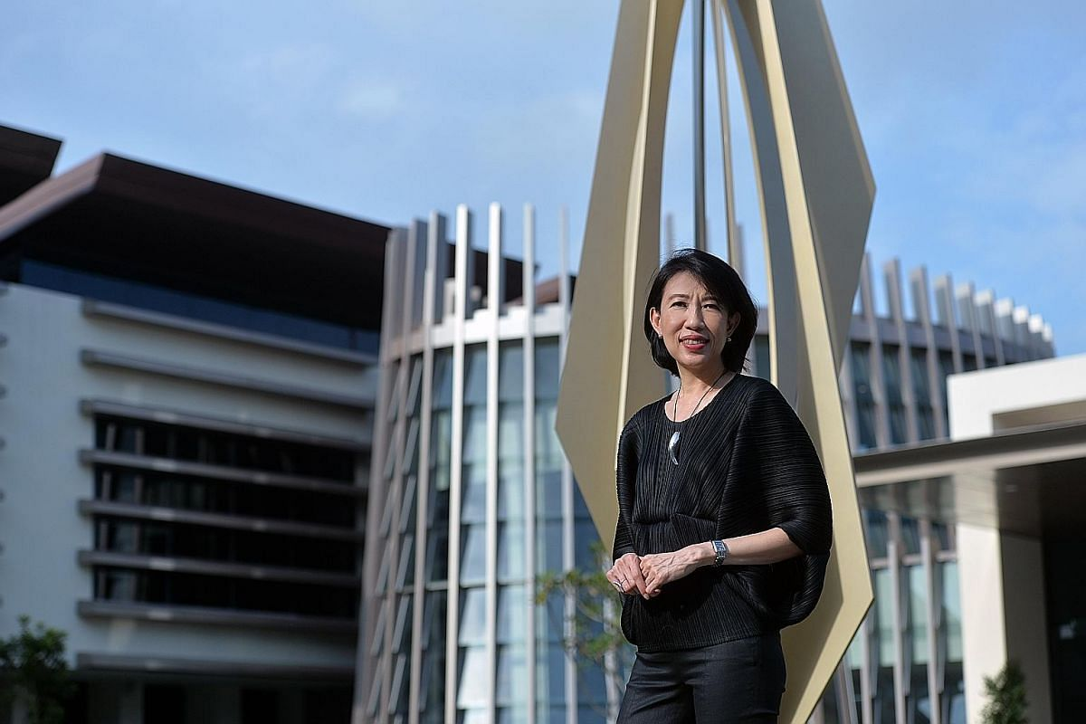 DP Architects CEO Angelene Chan at Temasek Club in Rifle Range Road, one of her projects which was completed last year.