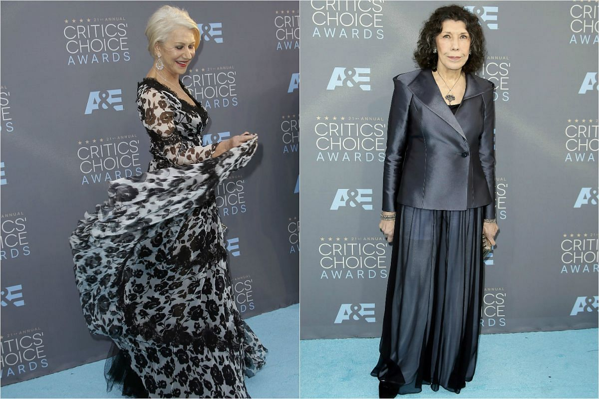 Classic styles from Helen Mirren (left) and Lily Tomlin.