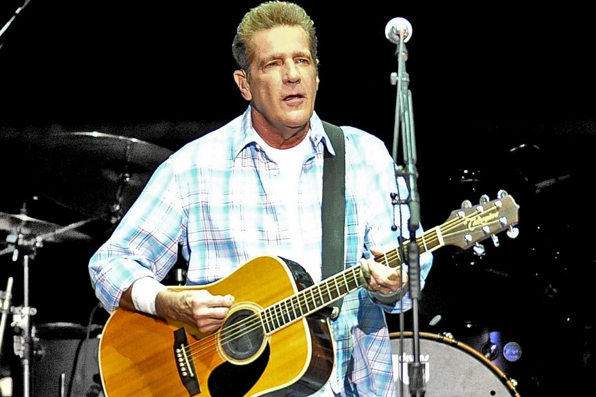 Eagles founding member Glenn Frey (above) performing at the Singapore Indoor Stadium in 2011.