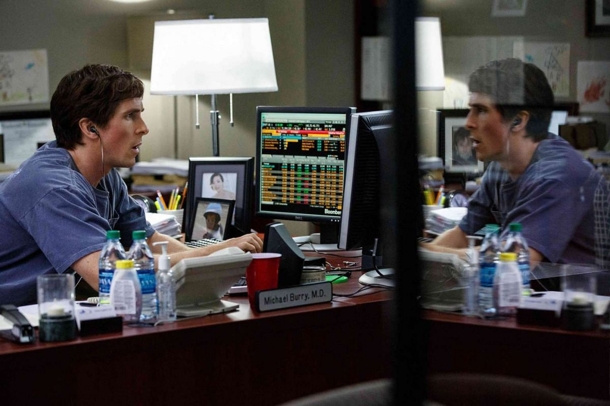 Christian Bale (above) plays a numbers savant in financial crisis film The Big Short.