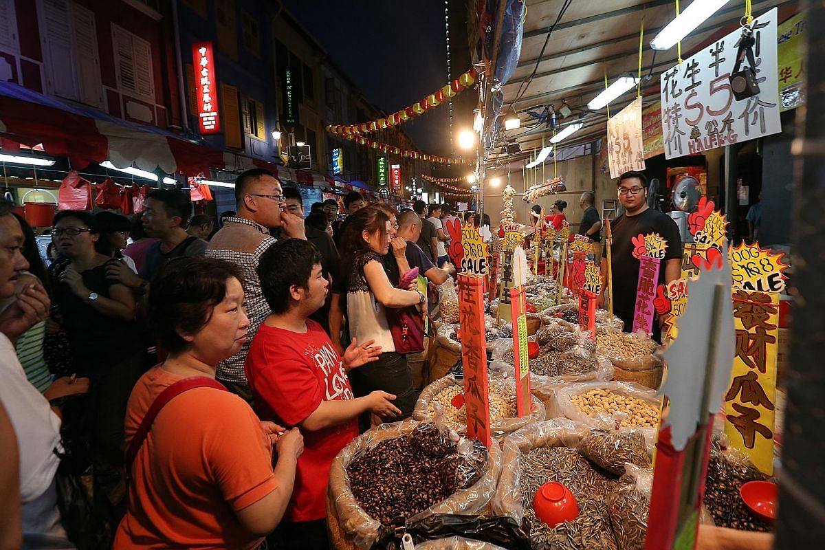 Long-time stall owners at the Festive Street Bazaar in Chinatown say that the crowds have thinned drastically compared with previous years.