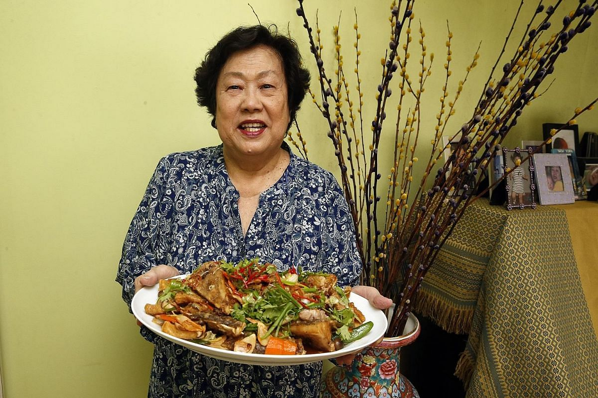 Madam Quek came across the recipe in a magazine in the 1980s and adapted it to include mushrooms and pork belly.
