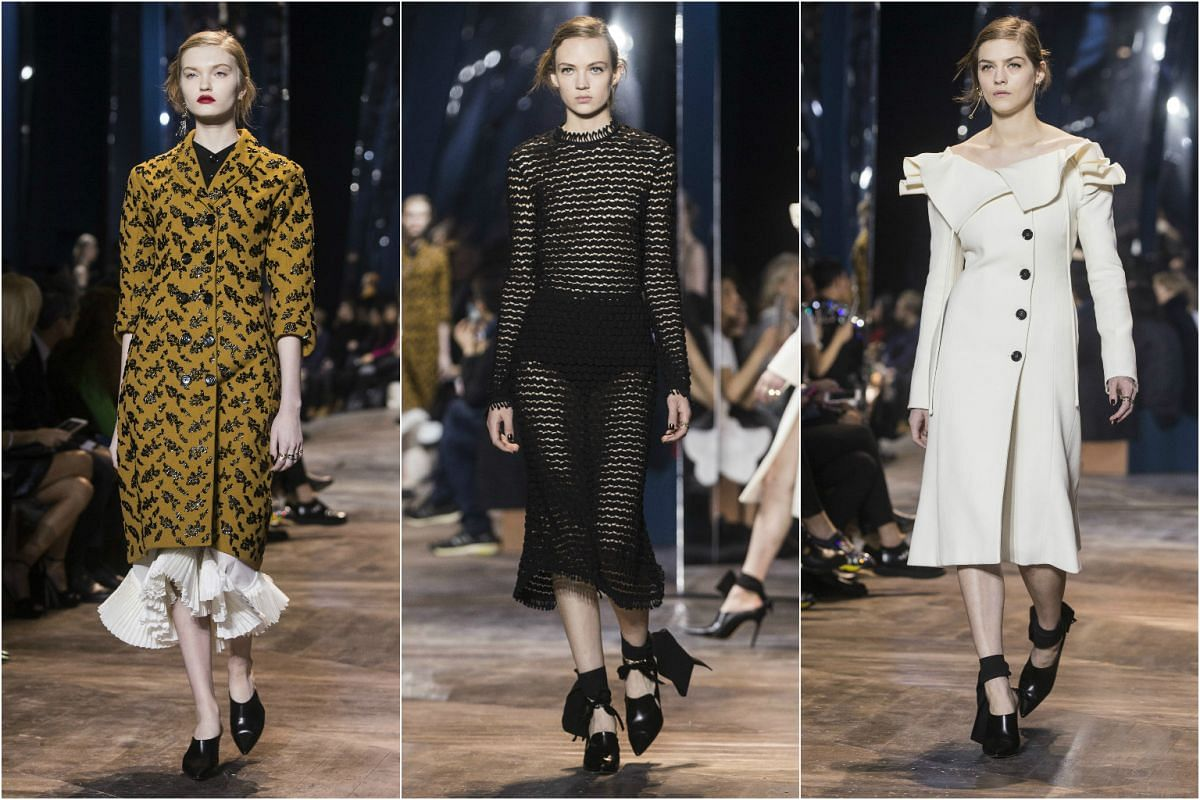Models presenting creations from the Spring/Summer 2016 Haute Couture collection of Dior fashion house during Paris Fashion Week on Jan 25, 2016.