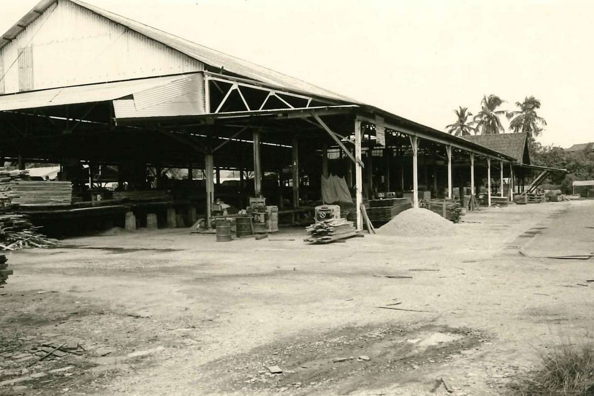 The rebuilt sawmill after the fire in 1963.