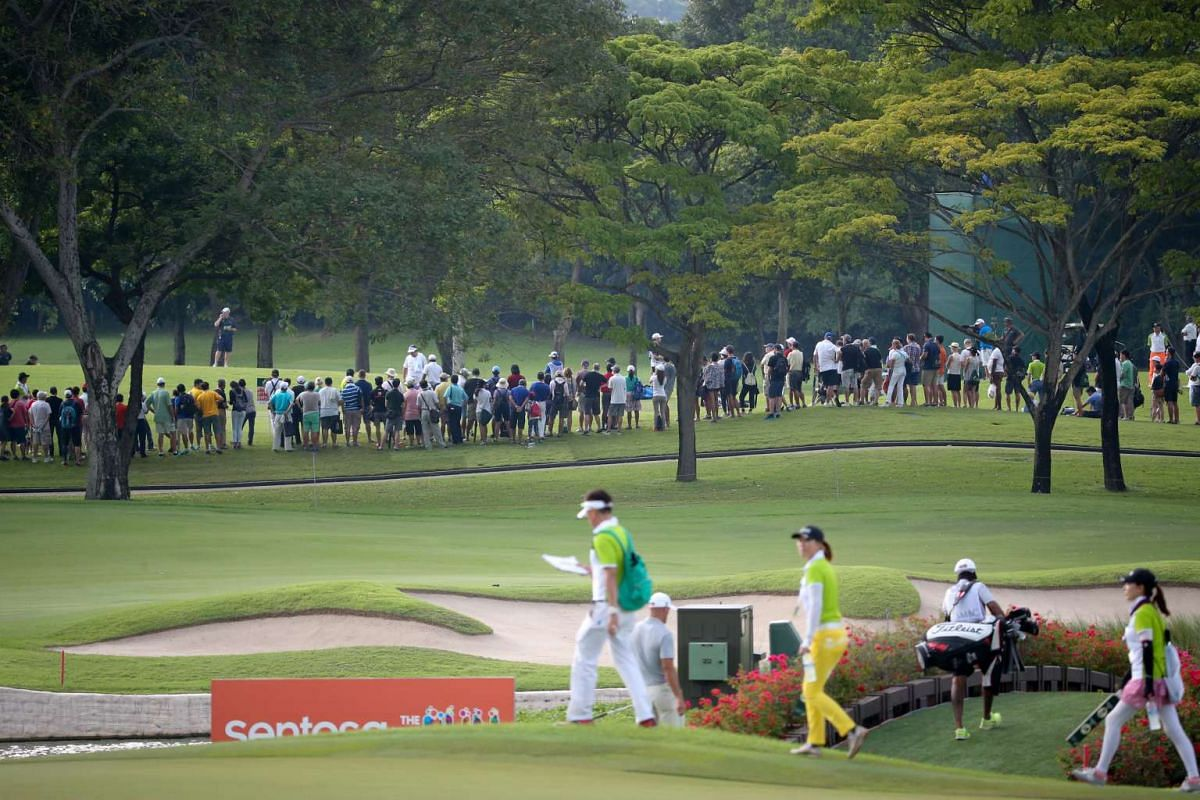 World No. 1 Jordan Spieth of America was a huge hit with the fans, with thousands following him during the SMBC Singapore Open.