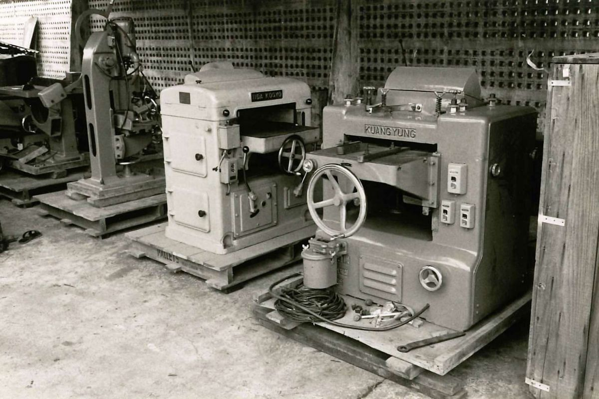 New machinery at the sawmill in 1964.