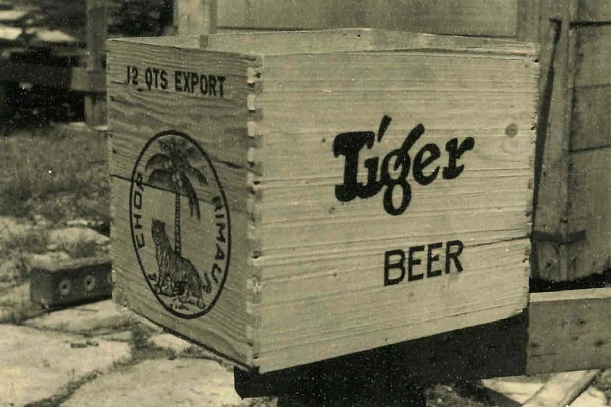 Hiap Chuan Joo produced wooden crates for Tiger Beer in the 1950s.