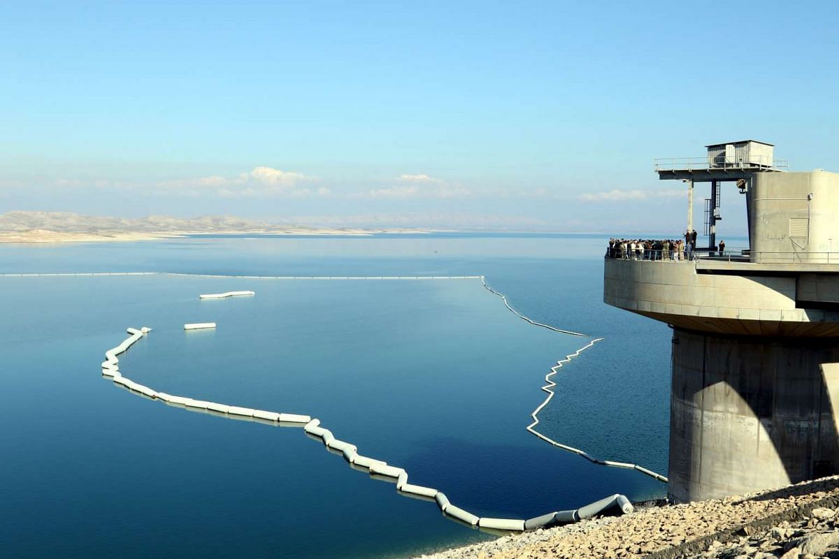 A view of a section of the Mosul Dam in northern Iraq on Feb 3, 2016.