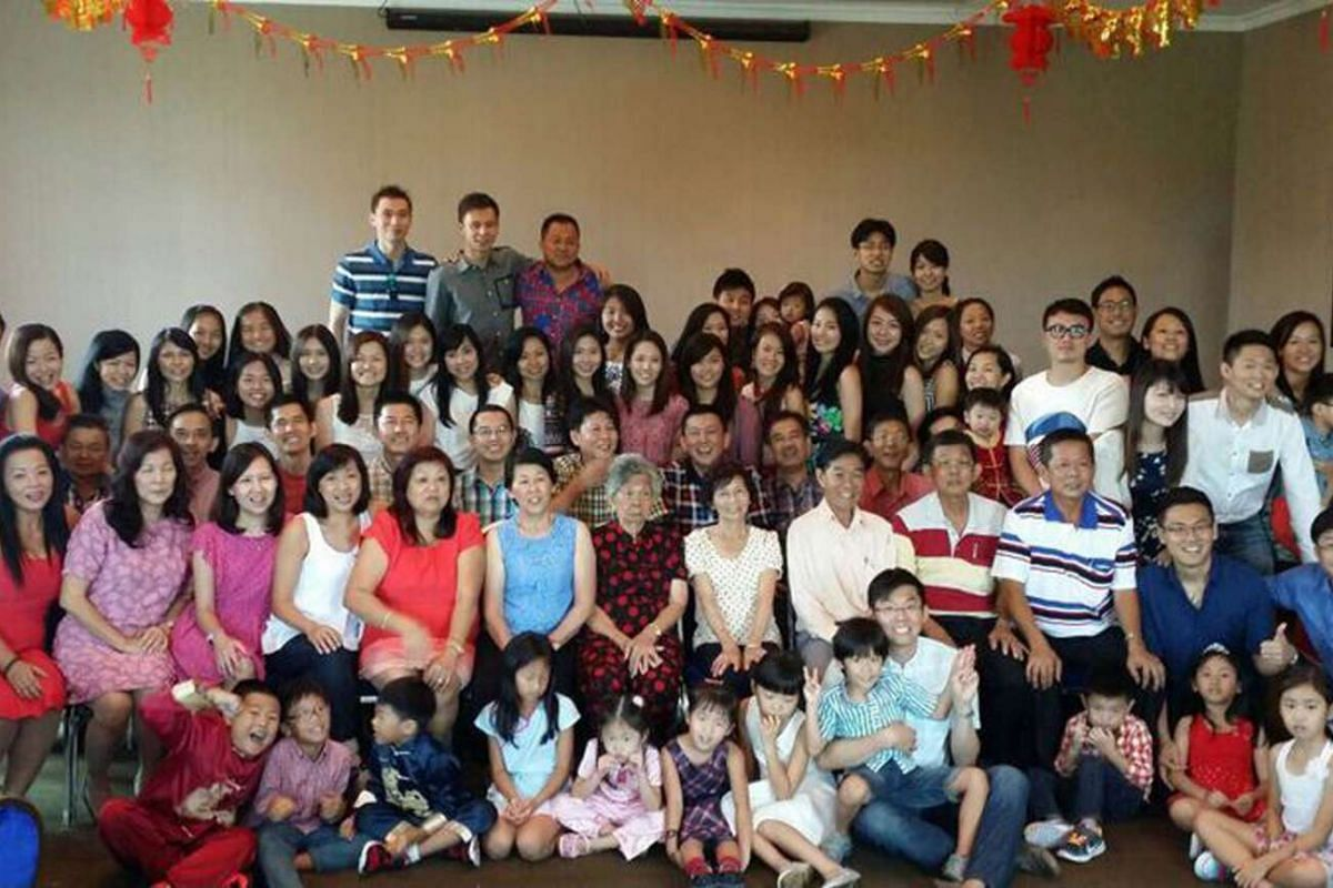 The Yap family of more than 70, including Qian Hu managing director Kenny Yap (third row, seated, seventh from left), gather on the first day of Chinese New Year for a movie and then lunch.