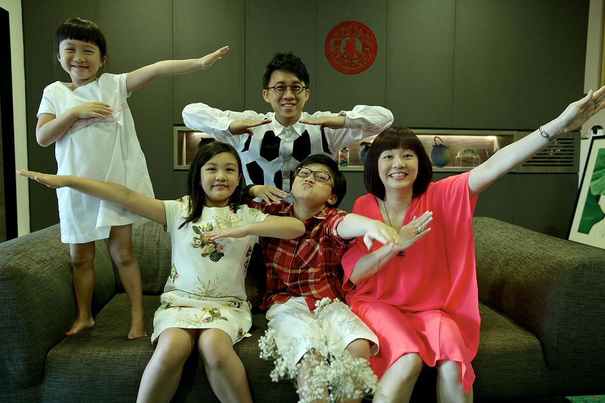 Taking a family portrait every Chinese New Year helps Mr Jeff Cheong and his wife, Ms Faith Koh, document their children's growth. With son, Seth, and elder daughter, Beth, as a baby in 2006, and the family with third child, Janneth, last year (above