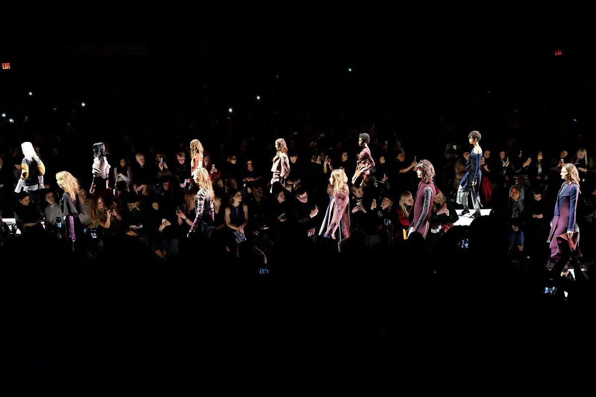 The finale of the BCBG Max Azria show at the New York Fashion Week on Feb 11.