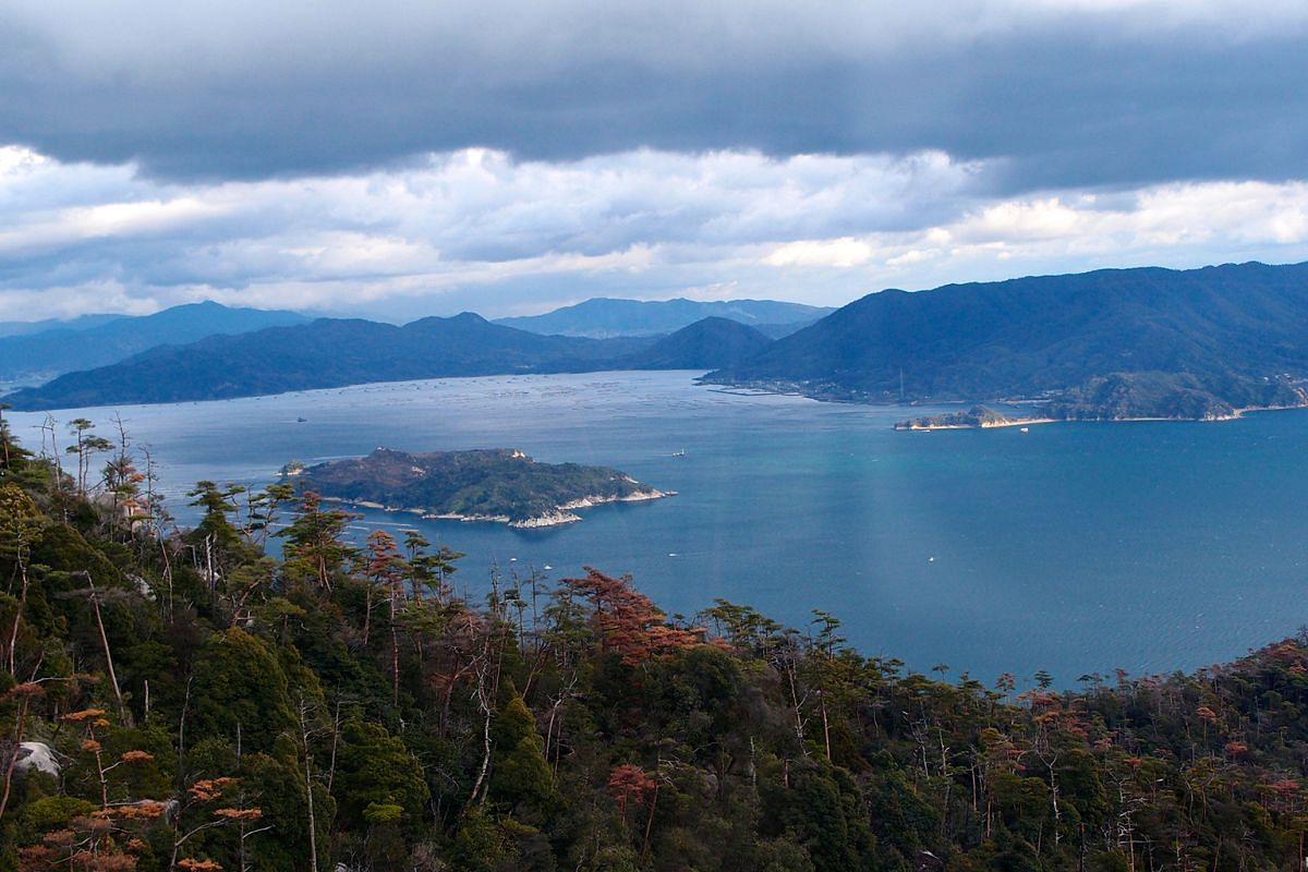 A view of the Seto Inland Sea from Mount Misen on Miyajima island.