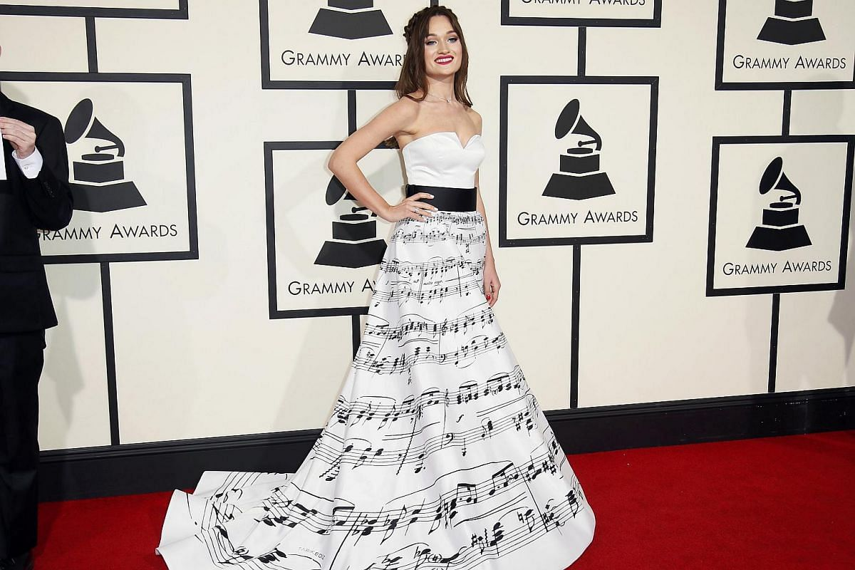 Diana Gloster arriving at the 58th Grammy Awards.