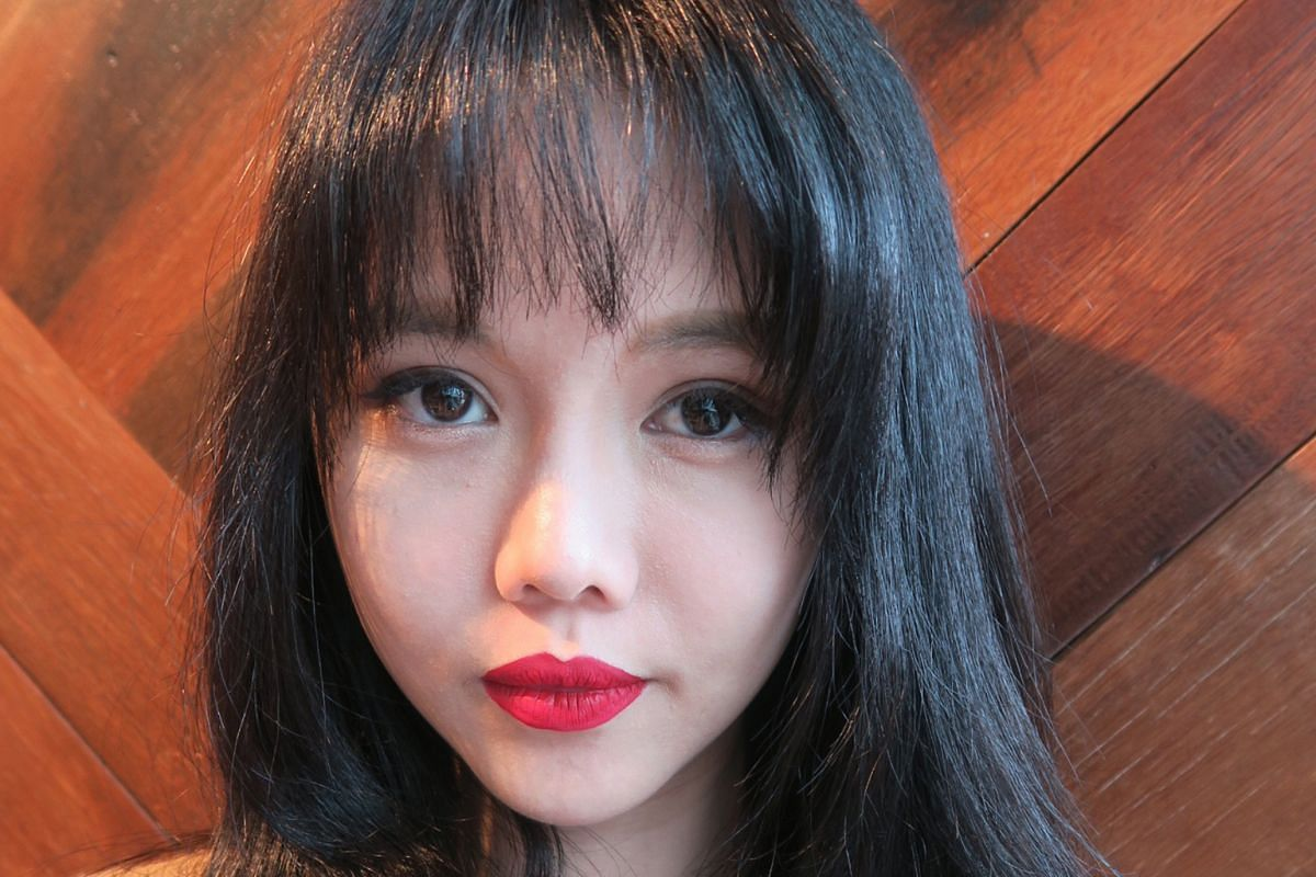 Now: Ms Ang Chiew Ting, better known as blogger Bong Qiu Qiu, after 10 procedures to her face (above).