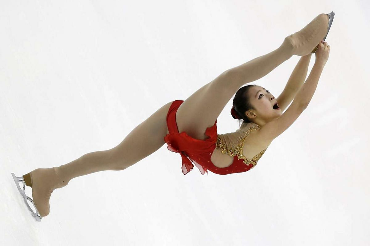 Maisy Hiu Ching Ma of Hong Kong performs during the Ladies' Short Program of the ISU Four Continents Figure Skating Championships in Taipei, Taiwan, Feb 18, 2016. PHOTO: EPA/RITCHIE B. TONGO
