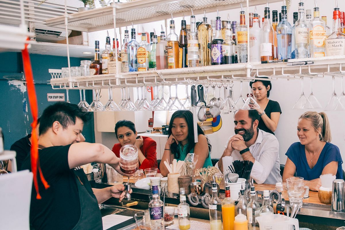 A workshop held at Bar Stories (above) during last year's Singapore Cocktail Week 2015.