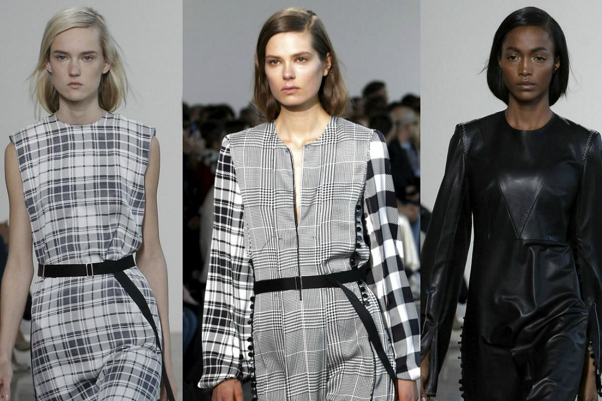 Models present creations during the Calvin Klein at the New York Fashion Week in New York, Feb 18, 2016.
