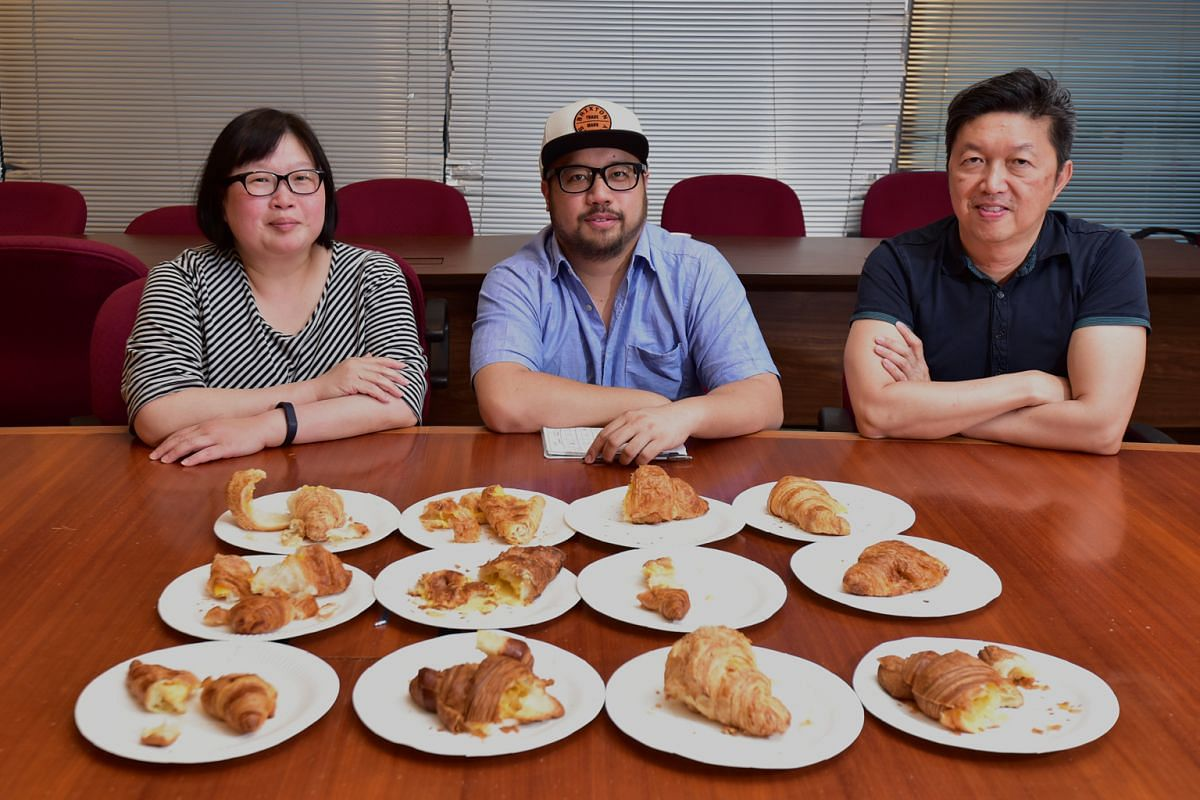 The panellists are (from left) Straits Times food editor Tan Hsueh Yun, chef Bjorn Shen and food critic Wong Ah Yoke.