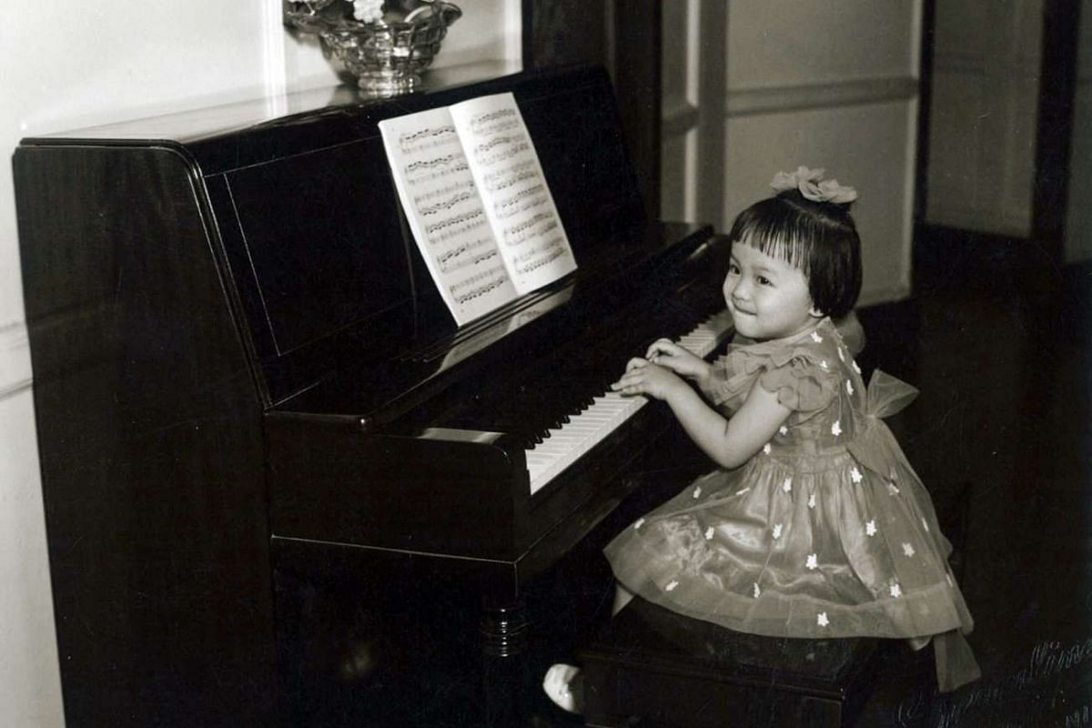 My life so far: Organist Margaret Chen, aged three and in her family home in Manila.