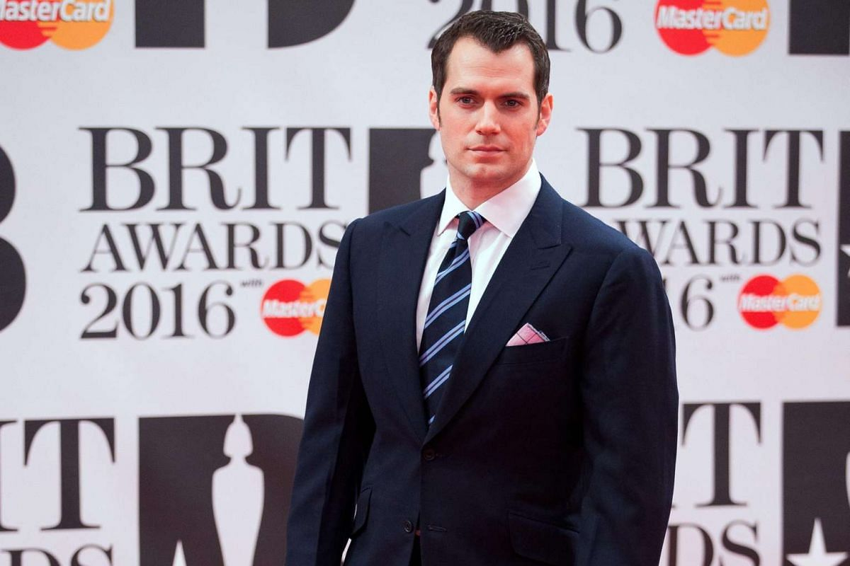 British actor Henry Cavill arriving at London's O2 Arena.