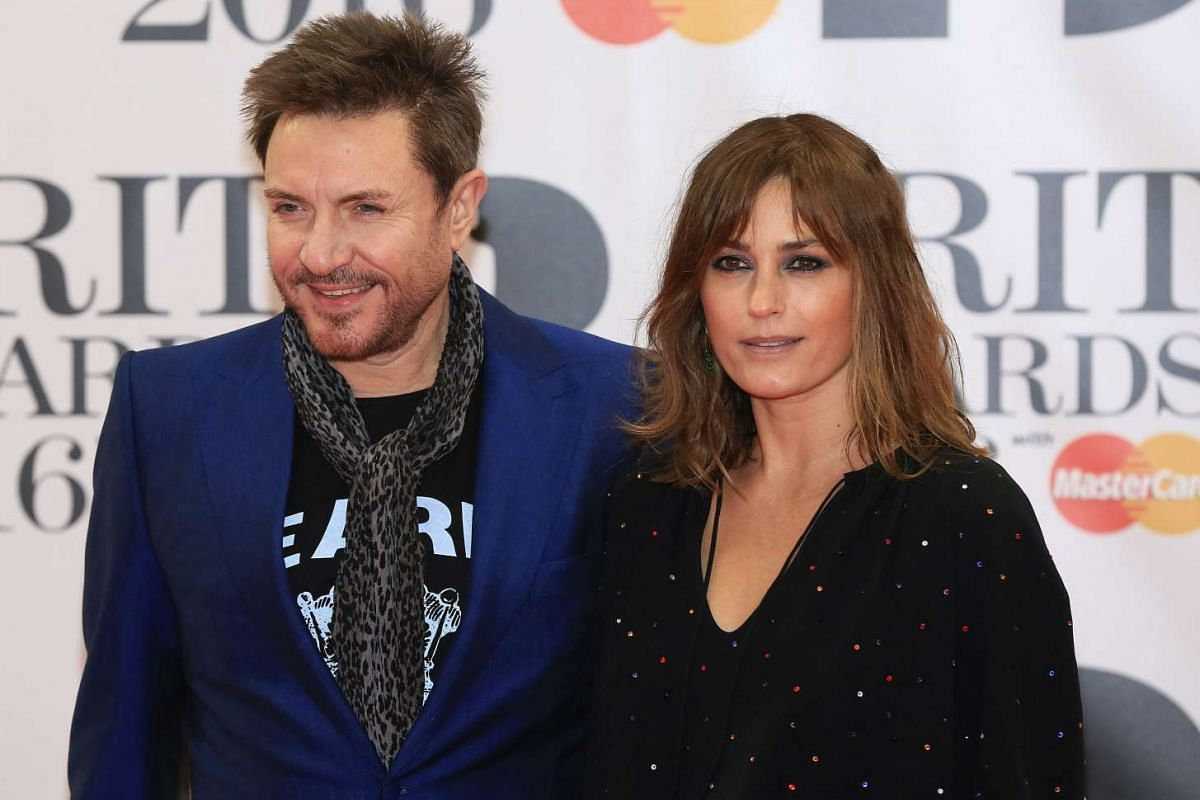 Singer Simon Le Bon and his wife Yasmin arriving at London's O2 Arena.