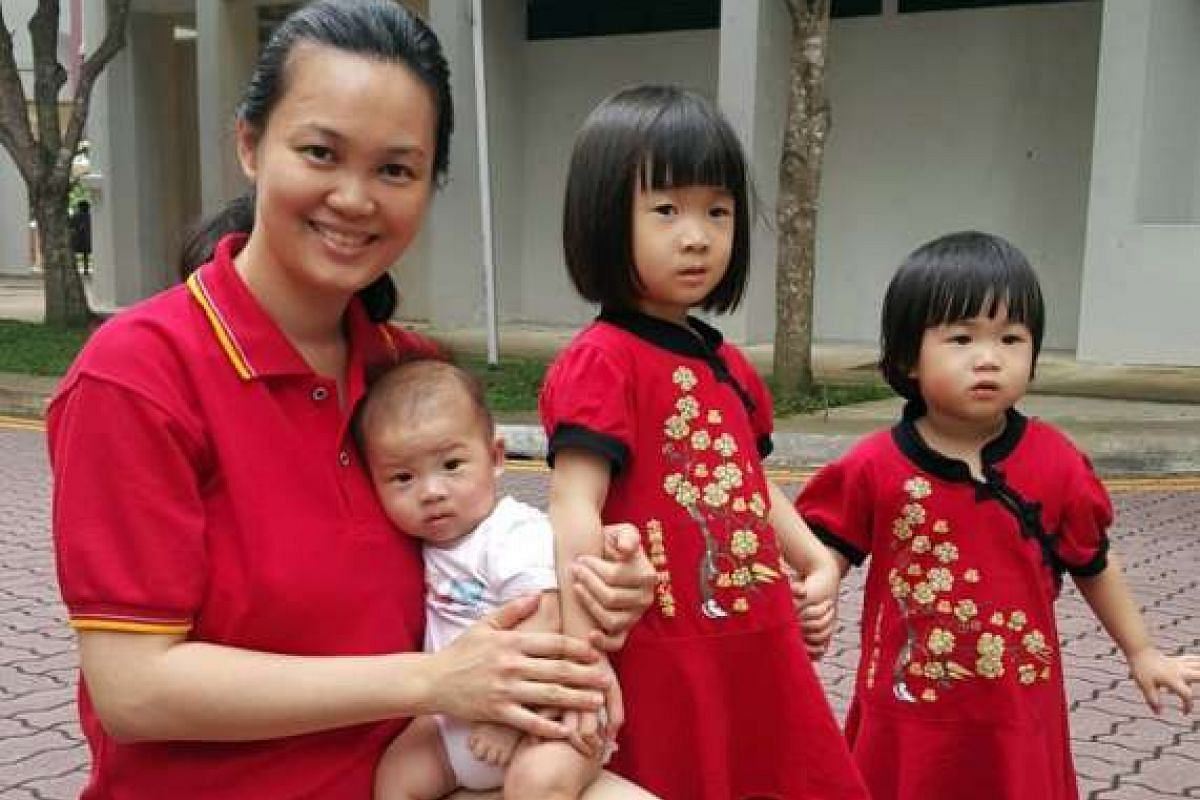 Ms Janice Lim (above) sends her three children for tuina treatments.