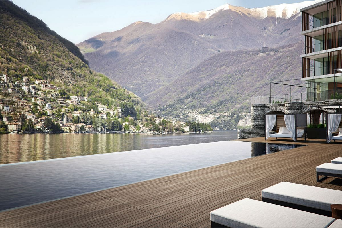 Il Sereno Lago Di Como, located on a promontory near the town of Como in Italy, has oversized rooms with lake views and terraces.