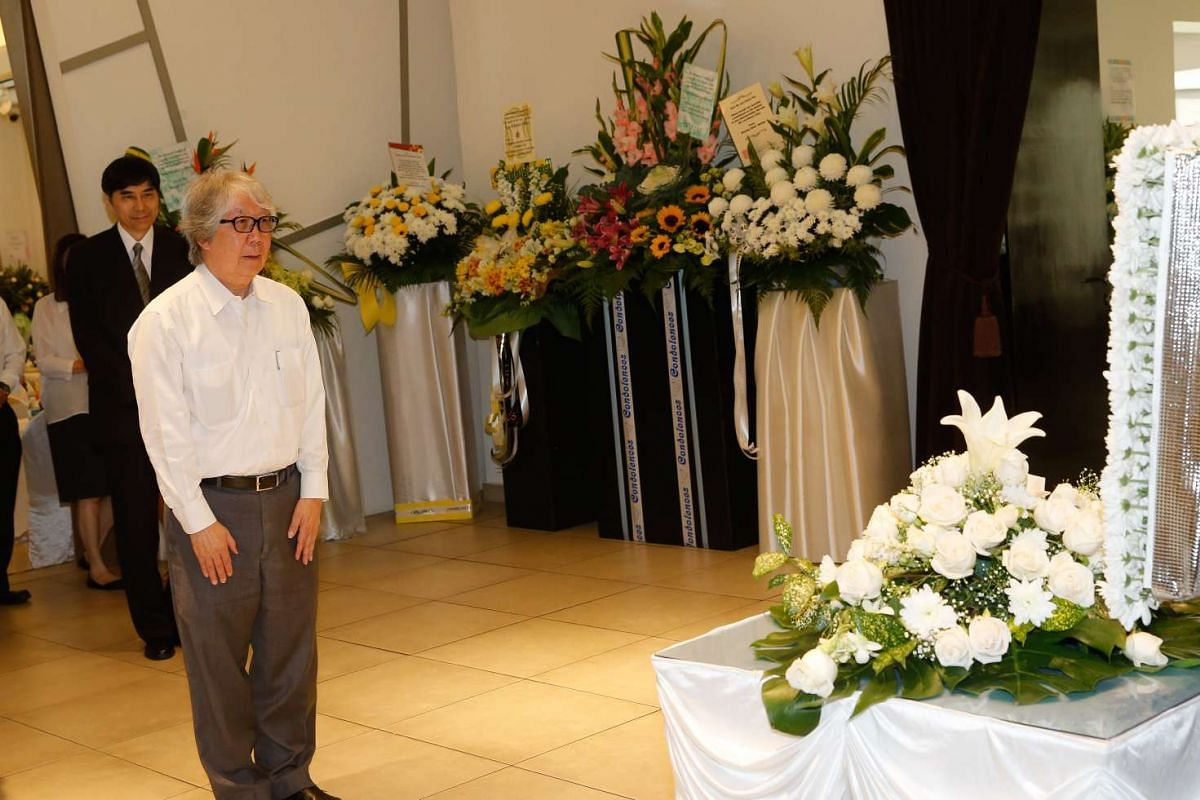 Ambassador-at-Large Tommy Koh at the wake of former PAP old guard Lee Khoon Choy, who passed away on Saturday (Feb 27) morning.