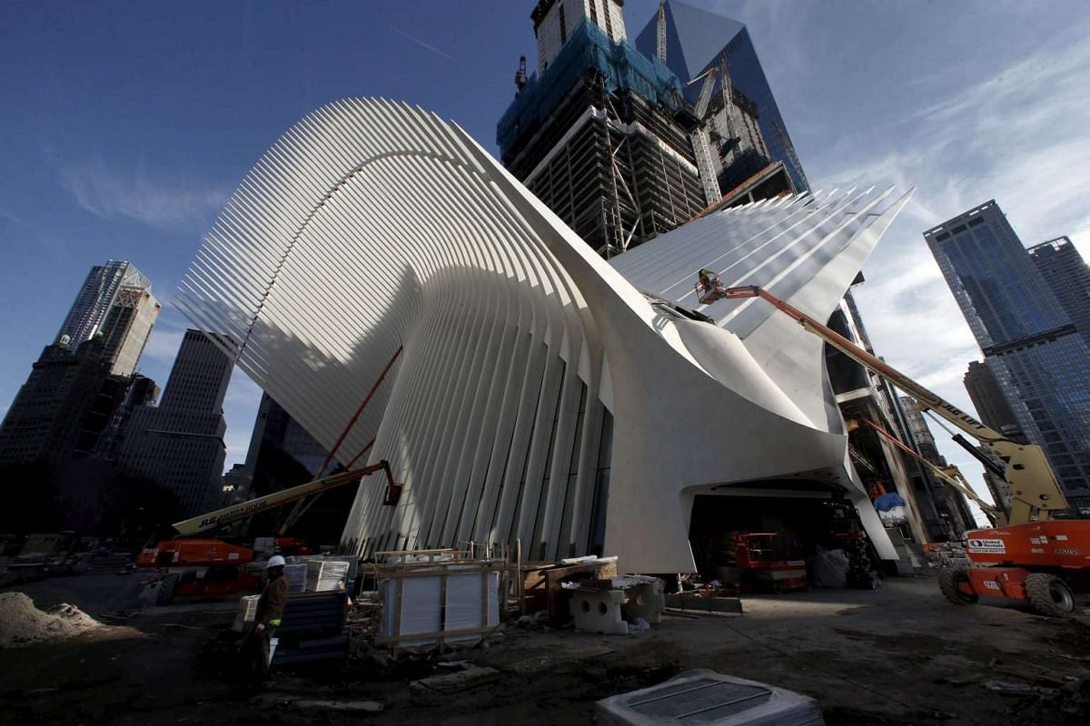 An exterior view of the Oculus structure of the World Trade Center Transportation Hub, on March 1, 2016.
