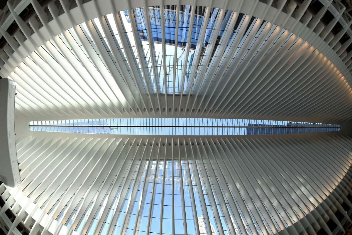 The first portion of Santiago Calatrava's World Trade Center Transportation Hub, known as the Oculus, open to the public in New York, on March 3, 2016.