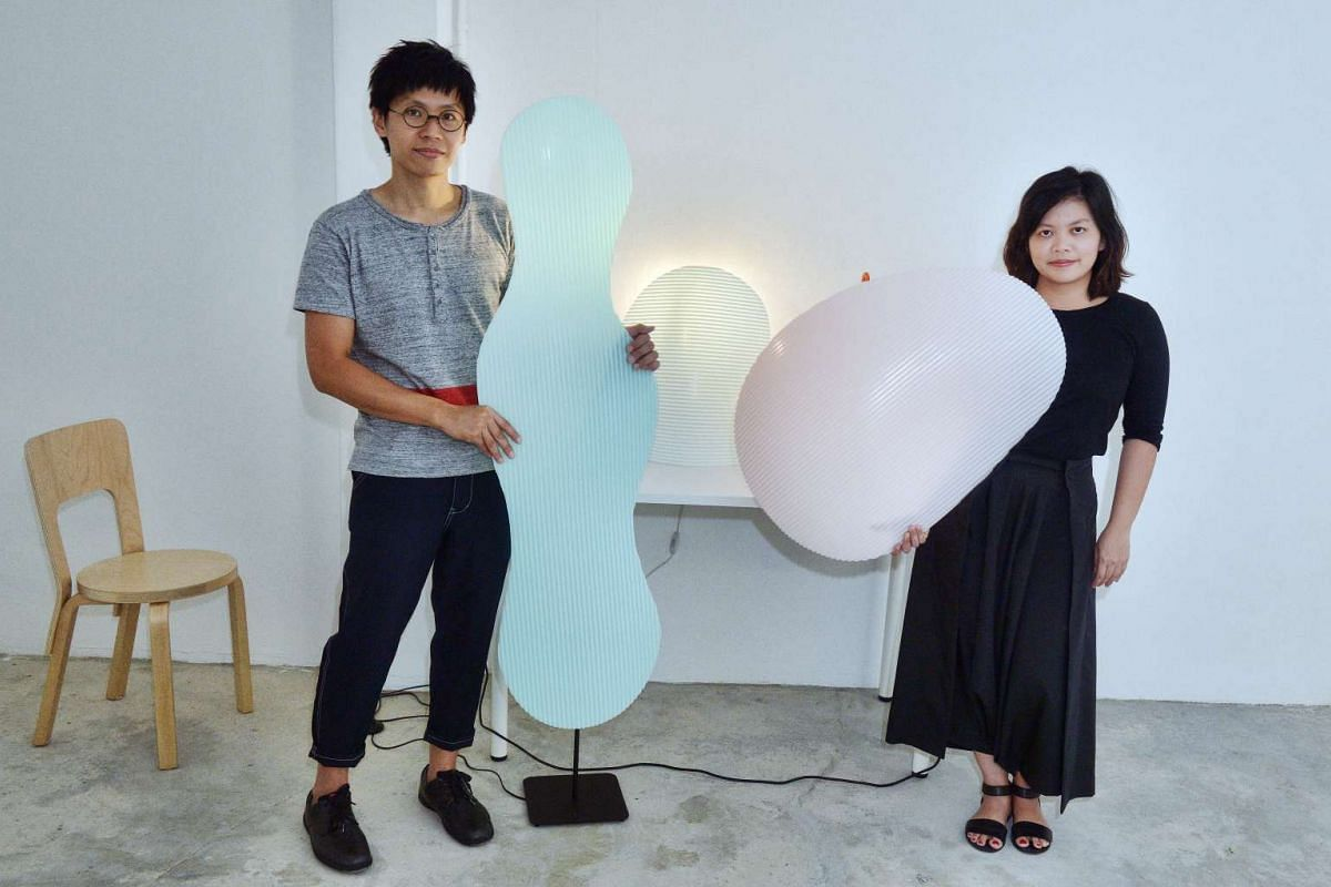Timo Wong and Priscilla Lui of Studio Juju created a curvy light out of solid surface material.