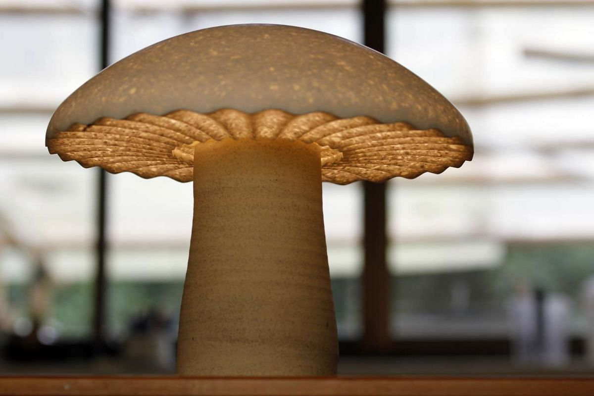 Ceramics studio Weekend Worker is making mushroom-shaped lamps, made out of clay and solid surfaces.