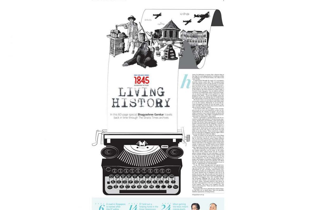 "Senior executive sub-editor Denise Chong bagged the Layout/Page Design of the Year award for her work on ""Living History"", a print supplement that marked The Straits Times' 170th anniversary last July."