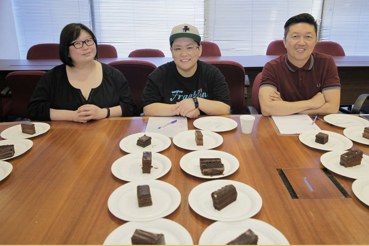 The tasting panel comprises (from left) Straits Times food editor Tan Hsueh Yun, chef Alysia Chan and food critic Wong Ah Yoke.