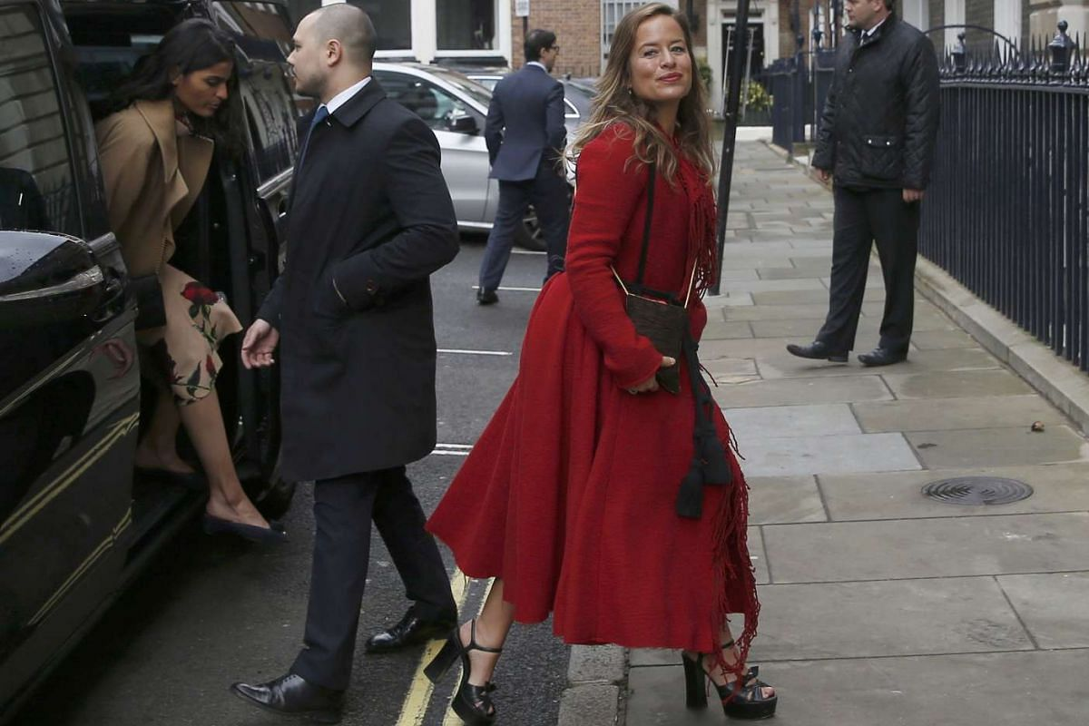 Ms Jade Jagger arriving for a reception to celebrate the wedding between media mogul Rupert Murdoch and former supermodel Jerry Hall in London on Saturday (March 5).