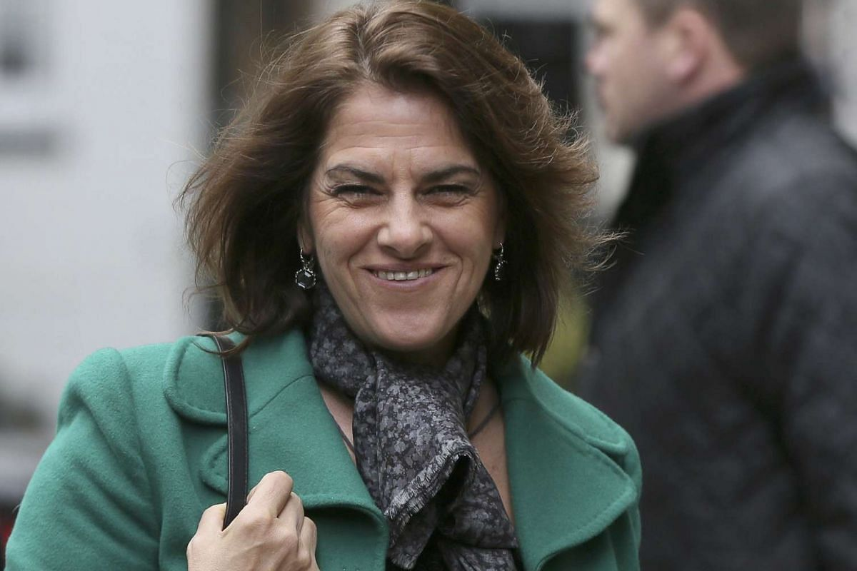 Artist Tracey Emin arriving for a reception to celebrate the wedding between media mogul Rupert Murdoch and former supermodel Jerry Hall in London on Saturday (March 5).