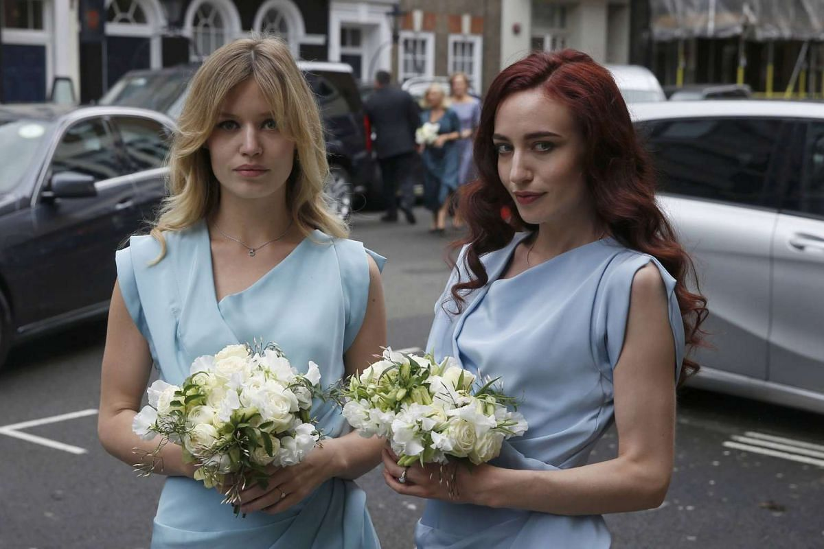 Georgia May Jagger (left) and Elizabeth Scarlet Jagger arriving for a reception in London on Saturday (March 5) to celebrate the wedding between media mogul Rupert Murdoch and former supermodel Jerry Hall.