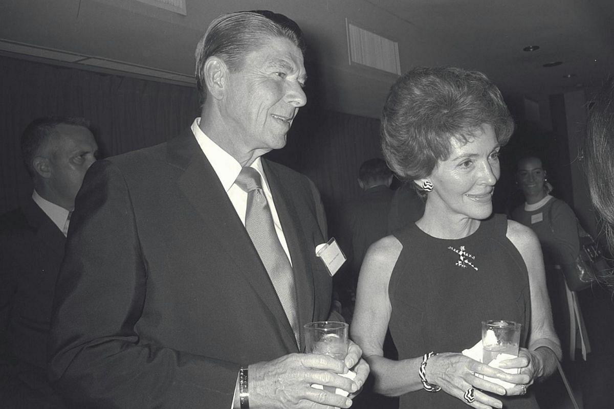 Mr Ronald Reagan and his wife, Nancy, in Singapore in 1971 when he was then US President Richard Nixon's special emissary to Asia.