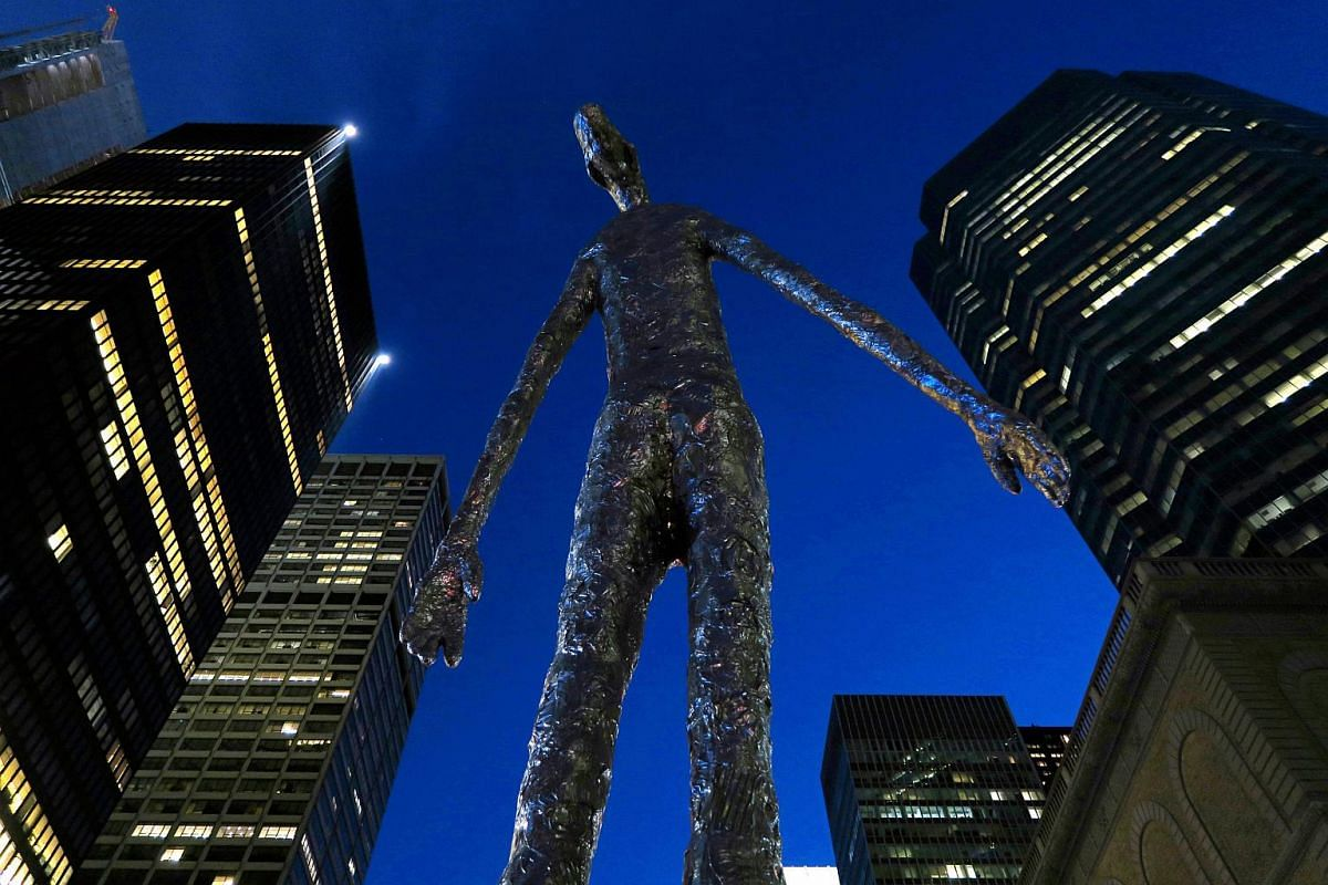 US Artist Tom Friedman's creation, Looking Up, on display in New York City on March 3, 2016.