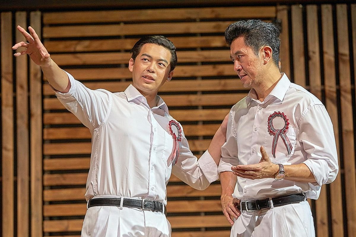 The LKY Musical has five nominations, including Best Actor for Adrian Pang (right), who acted as Lee Kuan Yew, and Best Supporting Actor for Benjamin Chow (left), who portrayed Lim Chin Siong.