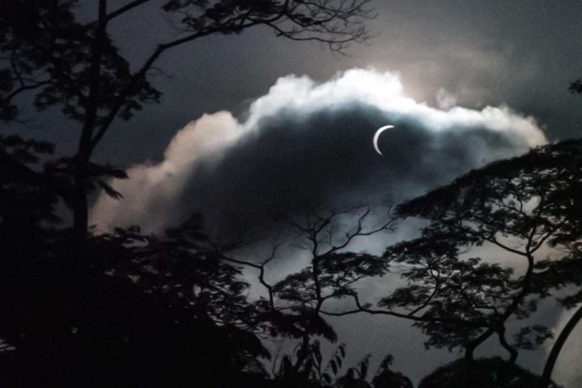 This shot of the eclipse was contributed by ST reader Hendry Ong.