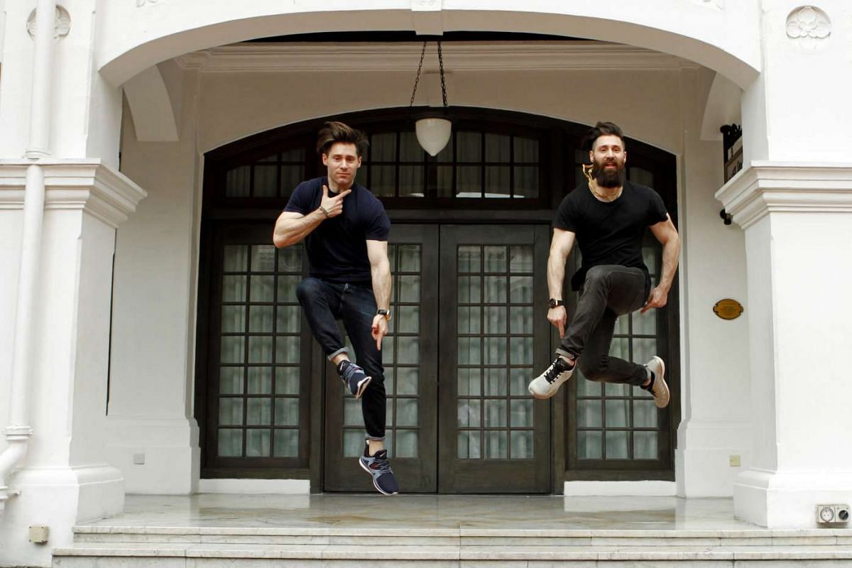 Twin brothers Adam (right) and Ryan Goldston, founders of sportswear shoes and clothes brand Athletic Propulsion Labs.