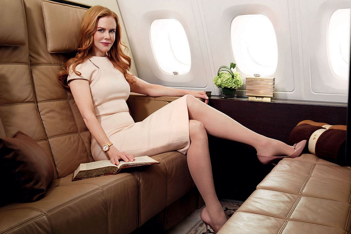 Actress Nicole Kidman appeared in Etihad's campaign showcasing The Residence, a three-room cabin.