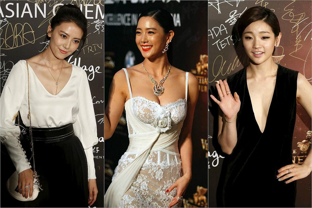 From left: Actresses Gao Yuanyuan, Clara Lee and Park So Dam.