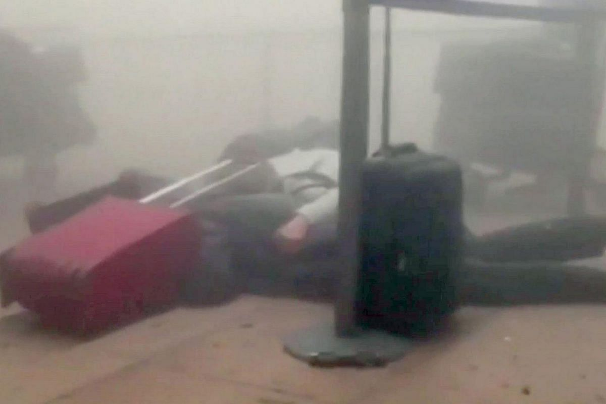Victims at the Brussels Airport, in this image taken from video on March 22.