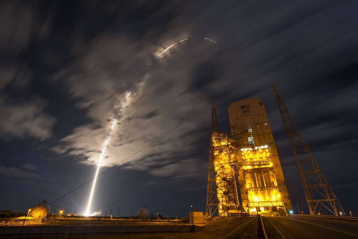 A United Launch Alliance Atlas V rocket, on a resupply mission to the International Space Station, lifts off from Space Launch Complex 41 on Cape Canaveral Air Force Station in Florida, on March 22, 2016.