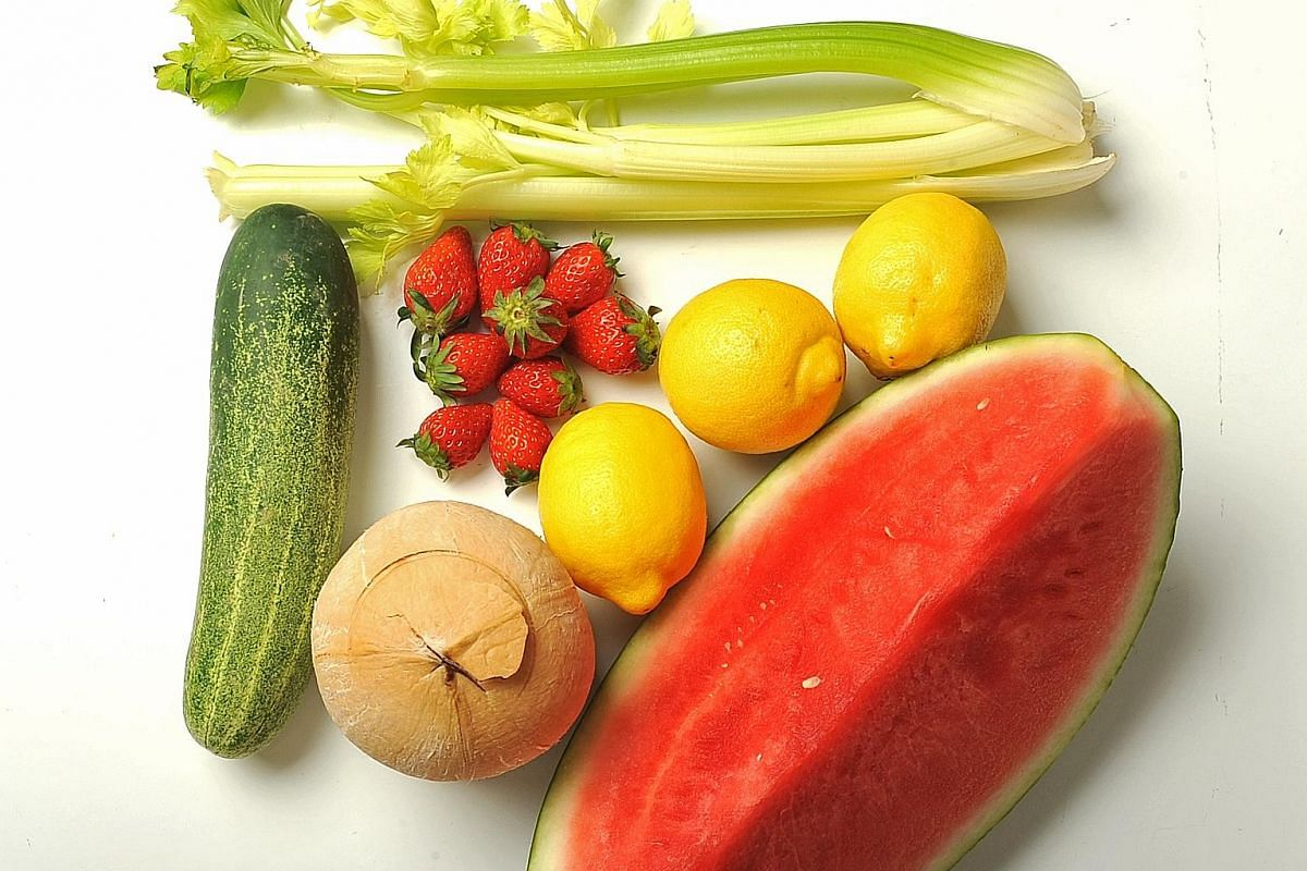 Eating cooling foods help to combat the heat.