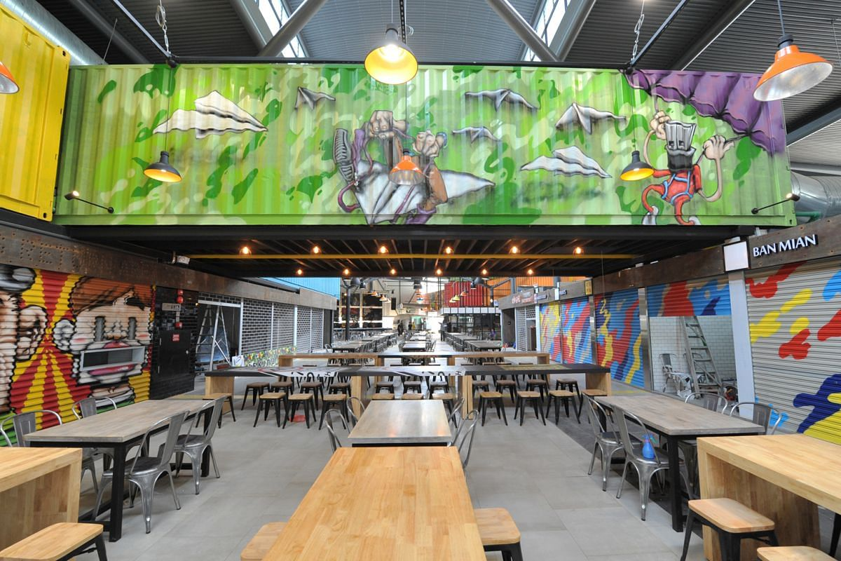Timbre+, which is not air-conditioned, is painted with vibrant graffiti designs. It opens on Friday.