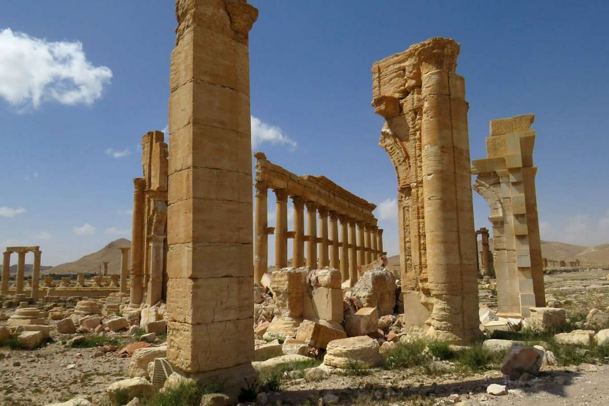 Unesco world heritage site Palmyra after government troops recaptured the city from ISIS on March 27, 2016.